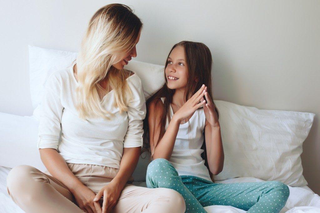 talking to child