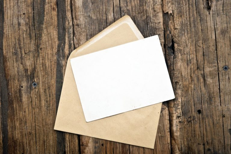 paper and envelope
