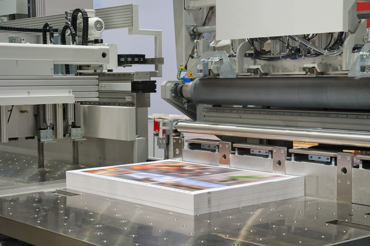papers being printed on