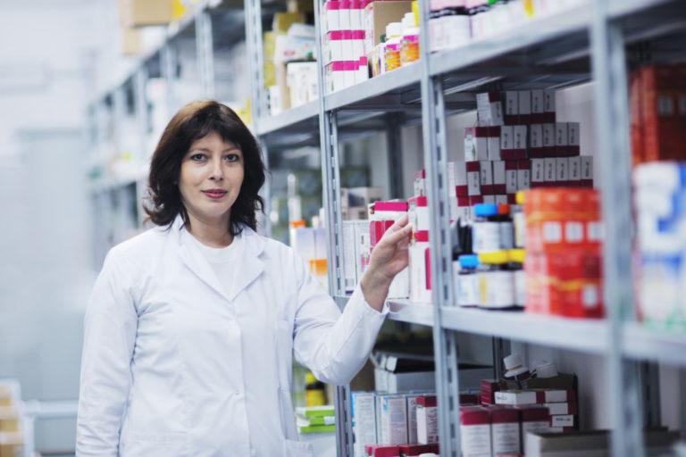 pharmacist at the drug store