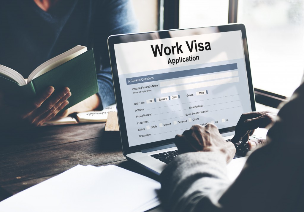 Work visa application online