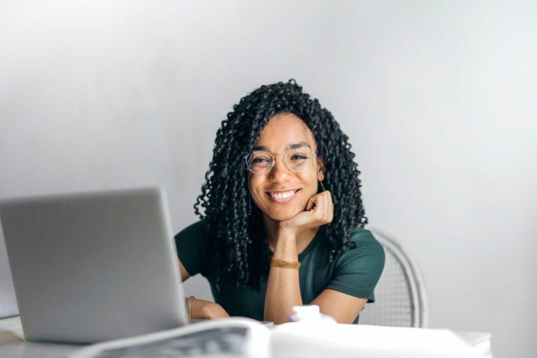 girl on her laptop