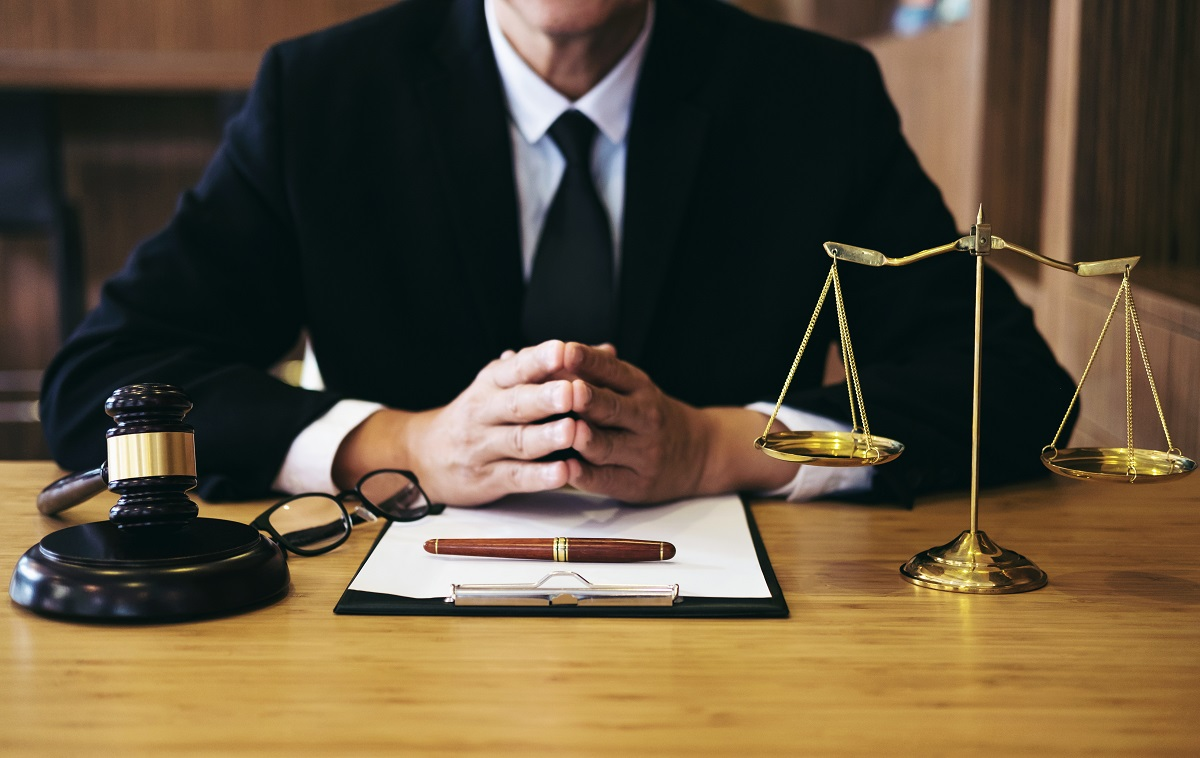 lawyer in his desk
