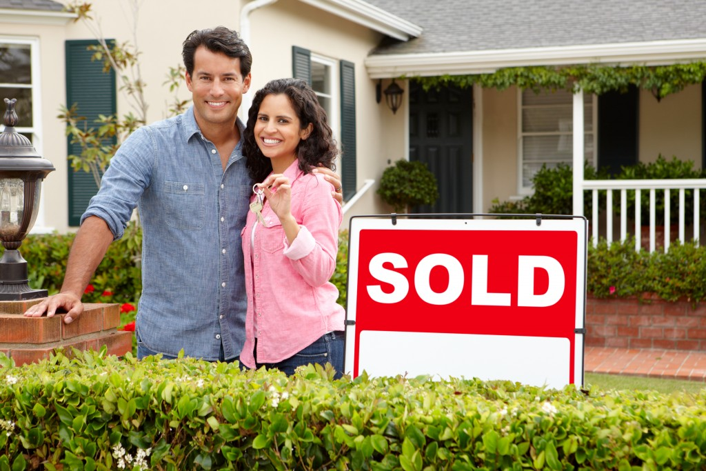 couple with newly bought home