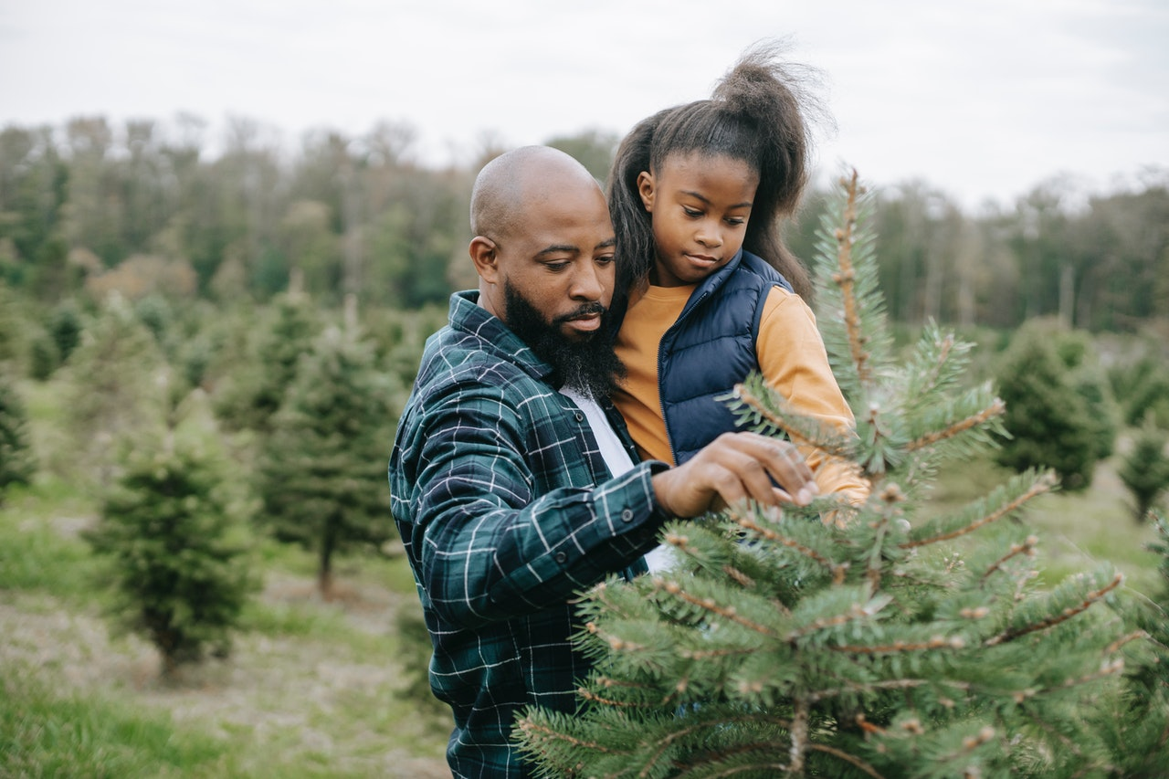man holding his daughter