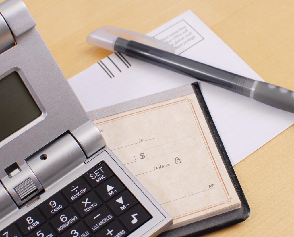 computing bills concept
