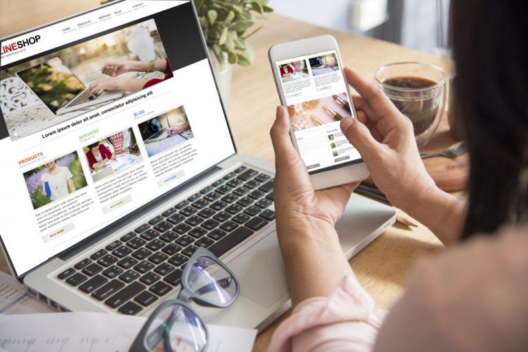 women ordering online