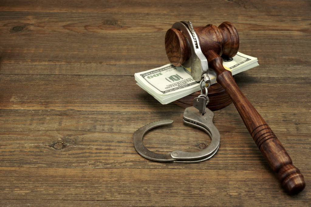 Gavel Cash and Handcuffs