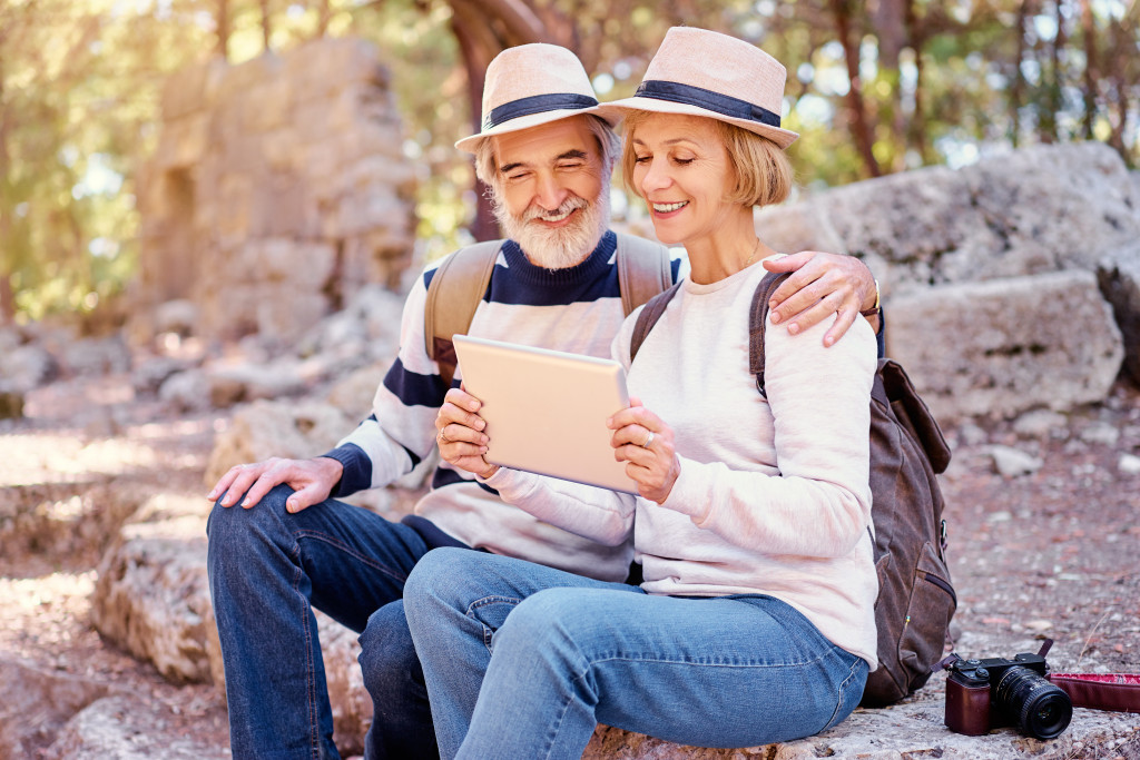 old couple outdooors